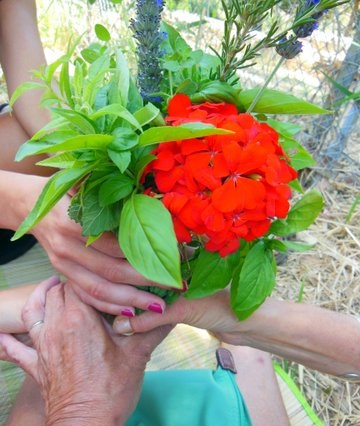 Athens Red Tent: offering flowers at the ancient temple of Artemis at Brauron