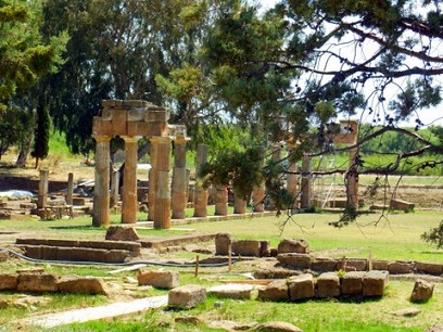 Athens Red Tent: At the ancient temple of Artemis at Brauron, Greece