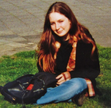 Shakti Penelope during her adolescence, attending high school in England